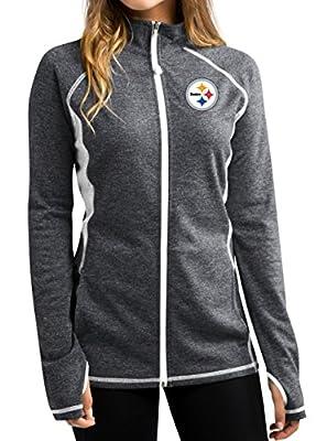 "Pittsburgh Steelers Women's Majestic NFL ""Club Pass"" Full Zip Sweatshirt"