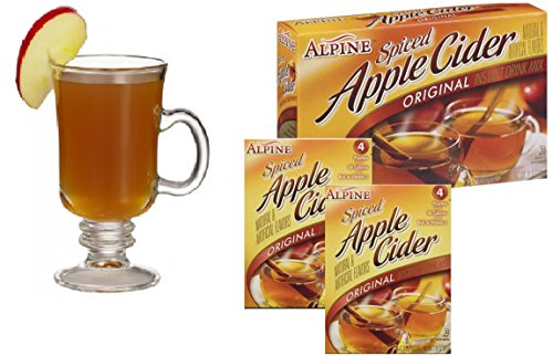 Spiced Hot Apple Cider Instant Mix Packets Alpine Original Apple Flavor 8 Beverage Pouches (Bulk Apple Cider Mix compare prices)