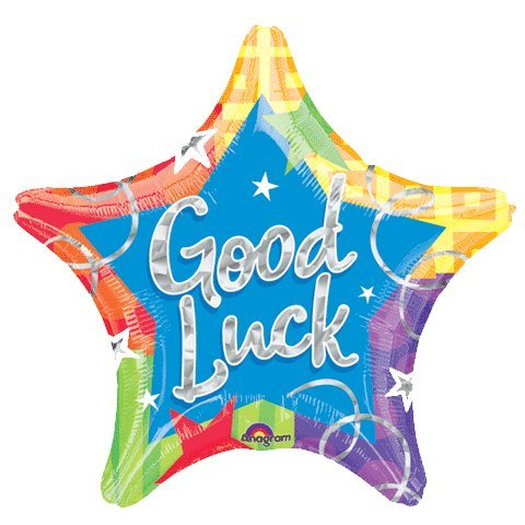 19 Inch Good Luck Star Prismatic Balloon 5 pack