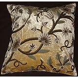 Crewel Pillow Grapes Liliac White Cotton Viscose Velvet (20X20)
