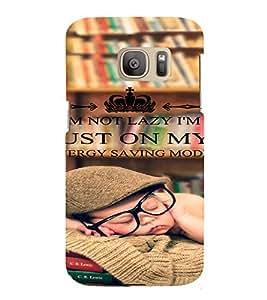 PrintVisa Funny Quotes Design 3D Hard Polycarbonate Designer Back Case Cover for Samsung Galaxy S7 Edge