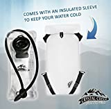 3L Hydration Bladder with Insulated Water Reservoir Sleeve - Easy Cleaning and Filling, BPA Free Tastefree FDA Approved, Keep Water Cool while Hiking Cycling Running and Kayaking!
