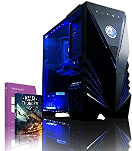 VIBOX Warrior 4W - Fast 4.0GHz 6-Core, High Spec, Desktop Gaming PC, Computer with WarThunder Game Bundle, Windows 8.1 & Neon Blue Internal Lighting Kit PLUS a Lifetime Warranty Included* (AMD FX 6300 Six Core Processor, 2GB Nvidia Geforce GTX 960 HDMI Graphics Card, High Grade 500W PSU, 1TB HDD Hard Drive, 8GB 1600MHz RAM, DVD-RW, SD Memory Card Reader)