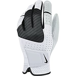 2014 Nike Mens Tech Xtreme Leather Golf glove Left Hand White/Black Small