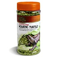 Zilla 11674 Fortified Aquatic Turtle Food, 6-Ounce Bottle
