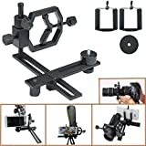 Gosky Fully Metal Telescope Camera Adapter Smartphone Adapter Telescope Stand Holder Smartphone Connection Adapter - Works with Virtually Any Point-and-shoot Digital, SLR, and DSLR Cameras DSLR - for Telescope Binocular Monocular Microscope - 1.25 Inch and 2 Inch