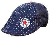 (トヨベイ)Toyobuy 子供用 可愛い ベレー帽 キャスケット ハンチング帽 男の子 女の子 つぼ短いキャップ お出かけ 日よけ カラフル ブロック柄(ネイビーD)