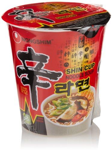 Nongshim Shin Cup Noodle Soup, 2.64 Ounce