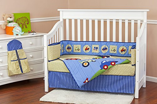 Dream On Me Travel Time 5 Piece Reversible Full Size Crib Set - 1