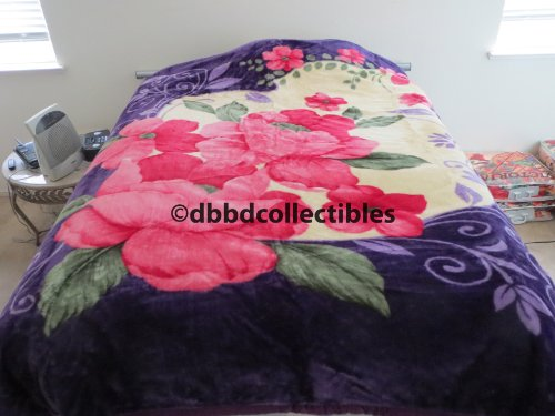 Purchase King Korean Style Mink Blanket--Purple Flower