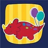 Little Dino Party Beverage Napkin (16) Dinosaur Birthday Party Supplies