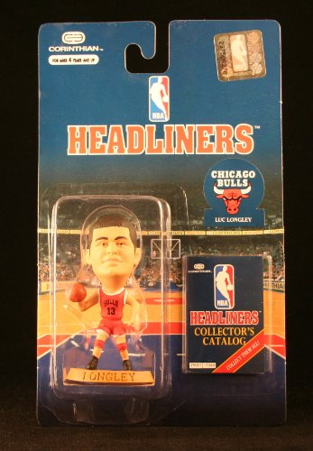 LUC LONGLEY / CHICAGO BULLS * 3 INCH * 1996 NBA Headliners Basketball Collector Figure - 1