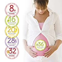 Pearhead Pregnancy Milestone Photo Sharing Belly Stickers from Pearhead