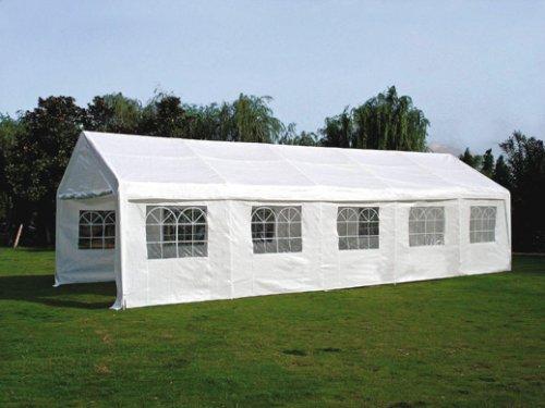 Dachplane / Zeltdach / Ersatzdach 4×10 PVC weiss günstig kaufen