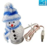 BRAND NEW - COLOUR CHANGING CRYSTAL LED SNOWMAN LIGHT - USB POWERED - PERFECT XMAS LIGHT / DECOR