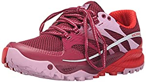 Merrell All Out Charge, Women's Lace-Up Trail Running Shoes - Red (Bright Red), 7.5 UK