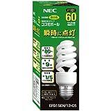 NEC 電球形蛍光ランプ D形 コスモボール 昼白色 60W相当タイプ 口金E26 EFD15EN/12-C5