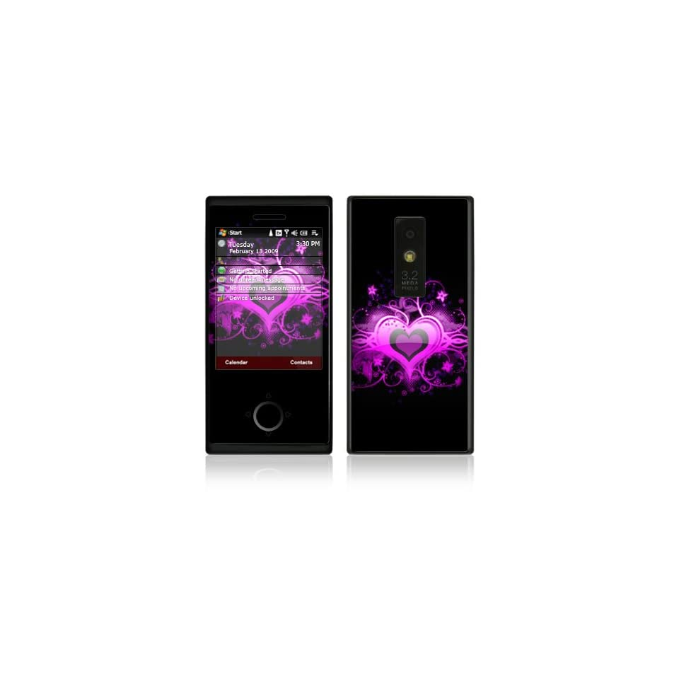 Glowing Love Heart Decorative Skin Cover Decal Sticker for HTC Touch Pro XV6850 Cell Phone