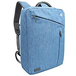 Laptop Briefcase Backpack, Evecase Water Resistant Convertible Laptop Canvas Briefcase Backpack - fits up to 17.3 inch Laptop - Blue