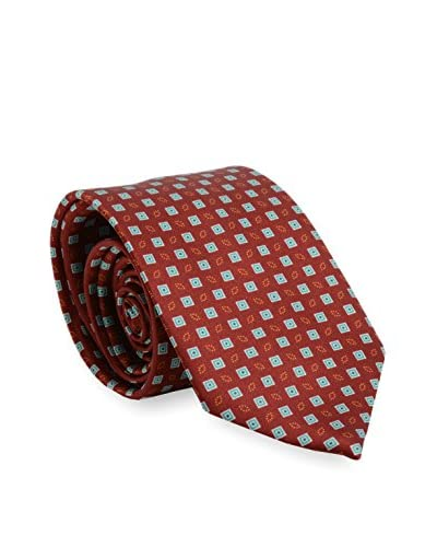 Brioni Men's Patterned Silk Tie, Red