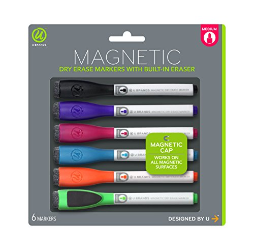 u-brands-low-odor-magnetic-dry-erase-markers-with-erasers-medium-point-assorted-colors-6-count