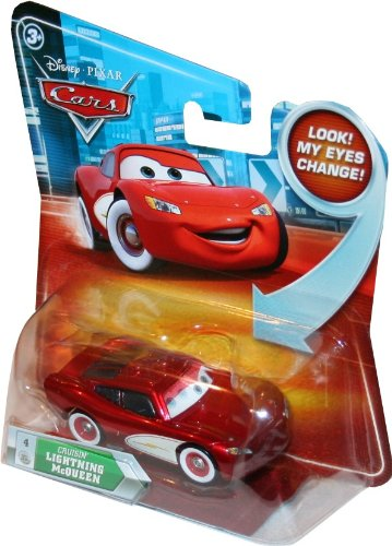 CRUISIN' LIGHTNING MCQUEEN #4 w/ Lenticular Eyes Disney / Pixar CARS 1:55 Scale Die-Cast Vehicle