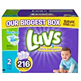 Luvs With Ultra Leakguards Diapers, Size 2, 216 Count