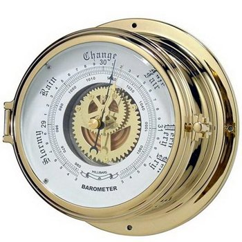 "Brass Nautical Barometer (7"" Base) from Norestar"