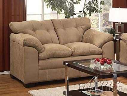 ACME 50361 Lucille Loveseat with Latte Microfiber