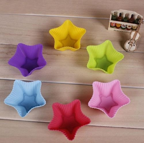 Zjskin Jello Ice Maker Dessert Muffin Cake Silicone Star Shape Baking Molds 10Pcs