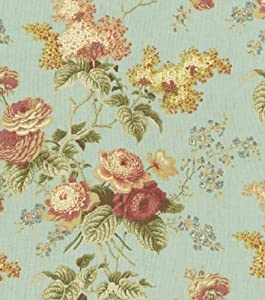 Home Decor Fabrics-Waverly Emma's Garden Mist Fabric