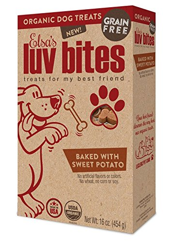 Elsa's Luv Bites, Organic Grain Free Dog Treats, Sweet Potato 10.6 oz. (Sweet Corn Tiger compare prices)