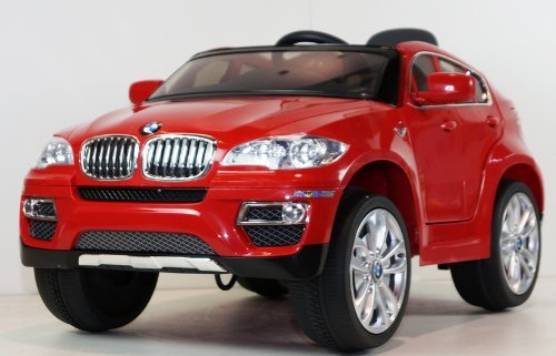 Children Ride On Electric Car Red Bmw X6 With Genuine License Kids Battery Ride On Wheel Motorized Dynamics Remote Control Toy