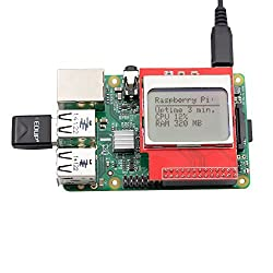 SunFounder Raspberry Pi CPU/RAM Display 5110 Mini LCD 8448 PCD8544 Shield For Model B+/B