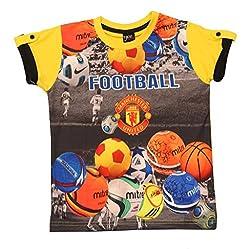 Romano Boys Yellow Cotton T-Shirt