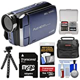Bell & Howell DV30HD 1080p HD Video Camera Camcorder (Blue) with 16GB Card + Case + Flex Tripod + Kit