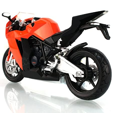 KTM RC8 Superbike alliage modele de moto jouets Vehicule Miniature Echelle 1/12 orange