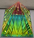 Grooved Crystal Pyramid