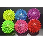 Wish Dayz 6pcs Colors Elastic Light Up Spike Ball With Led Flash Light Up For Fun/Games