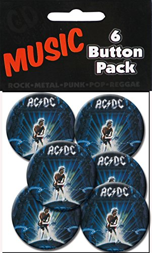 "C&D Visionary AC/DC Ballbreaker 1.25"" Button (6-Piece)"