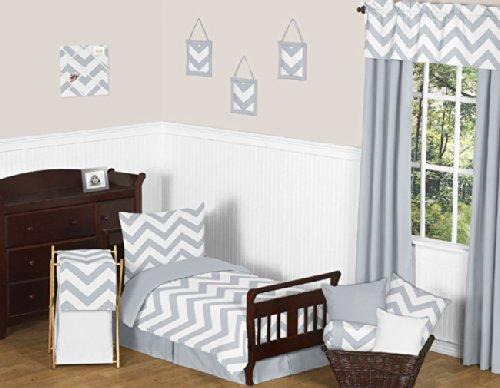 Gray Chevron Baby Bedding 5887 front