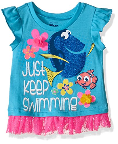 Disney Girls' Finding Dory Tulle Top