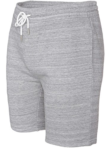 Volcom Anomy Fleece-Pantaloncini da uomo, con elastico, UOMO, grigio, XL