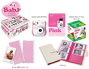 Fuji Instax Mini 25 Limited Version 1 Year Instax Baby Set Pink + 50 Films + Album + 365 Stickers Fuji Instax