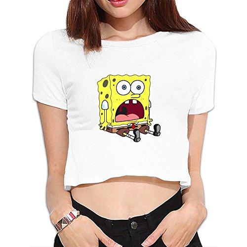 Spongebob Squarepants Main Cast Cool Crop Top Dew Navel T Shirts (Maru Die Cast compare prices)