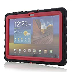 Gumdrop Cases Drop Tech Series Case for 10.1-Inch Samsung Galaxy Tab 2 - Black/Red (DT-SAMTAB2-BLK-RED)