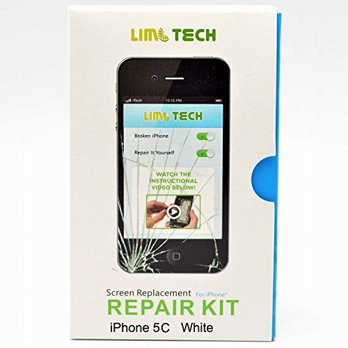 Limtech Iphone 5C (At&T/Verizon/Sprint) Premium Screen Replacement Replacement Digitizer And Touch Screen Lcd Assembly & Repair Kit&Instructions&2Pcs Screen Protectors,Boxed