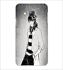 PrintDhaba Tom Girl D-6070 Back Case Cover for SAMSUNG GALAXY A3 (Multi-Coloured)