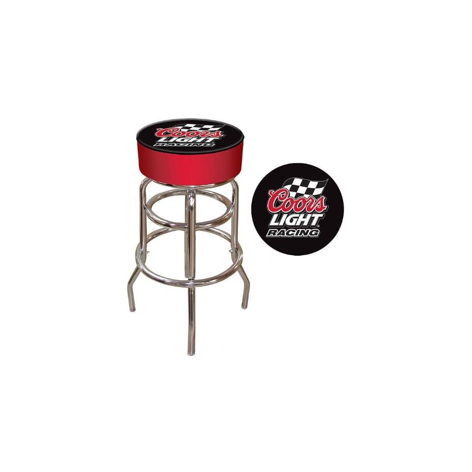 Best Quality Coors Light Racing Logo Padded Bar Stool