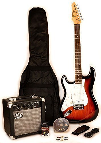RST-3TS-LH-Left-Handed-3-Tones-Electric-Guitar-Package-with-Full-Size-Electric-Guitar-Amp-Carry-Bag-and-Instructional-DVD